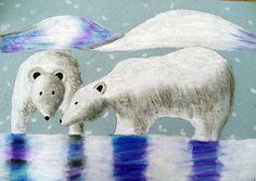 "From exhibit ""Oil Pastel Polar Bears""  by Michayla27"