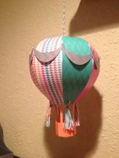 CTMH Hot Air Balloon 3D project by  me stamp 2 for the  Dream Pop Paper Pack Blog Hop!