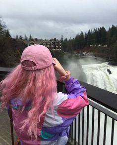 Imagem de pink, girl, and hair