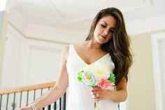 Paper Flower Bouquet - Paper Succulent - Summer Wedding - Paper Flowers - Tropical Bouquet - Alternative Flower - Bridal Bouquet