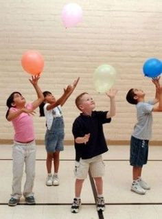 hand eye- Balloon Game- with music stop and go staying on x -tap with one hand, other hand, both hands -throw above head and catch -throw in air bounce on head, bounce off knee, turn around -how many times (counting)