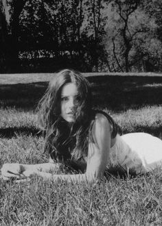 "Lana Del Rey ""Ultraviolet White"" Photograph by Neil Krug - edited B&W"