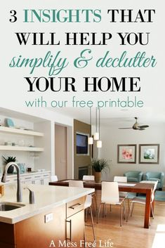 Feeling overwhelmed by clutter? These decluttering insights provide the very best tips and tricks so you can have a clutter-free home just in time for spring cleaning.  If you're looking to simplify your home, grab this free printable checklist and start implementing these strategies.  I know this is just the inspiration you need so you can implement all the ideas you'll find here for a clean & organized home.  #declutter #clutter #springcleaning #printable  #konmarimethod
