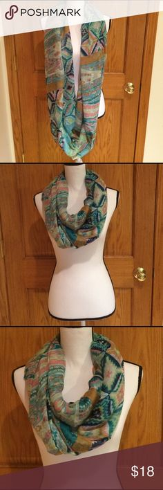 "💐SALE💐Infinity Scarf Extremely lightweight, sheer infinity scarf. 100% polyester.  35"" X  70"" bjcich Accessories Scarves & Wraps"