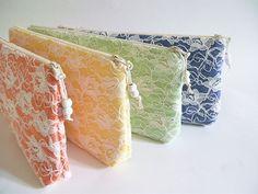 Orange Clutch Yellow Clutch Green Clutch Blue Clutch by PersaBags