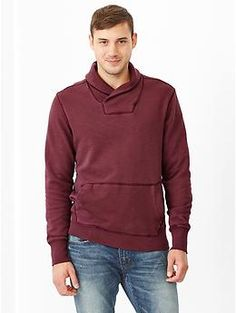 Lived-in pullover sweatshirt