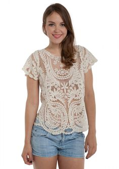 Beach Vacation Embroidered Blouse