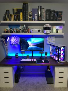 Game Room Desk Epic Video Game Room Decoration Ideas You Must See . 50 Video Game Room Ideas To Maximize Your Gaming Experience. Home and Family Deco Gamer, Gamer Bedroom, Diy Computer Desk, Lap Desk, Gaming Desk Bed, Gaming Computer, Gaming Desktops, Gaming Pcs, Gaming Headset
