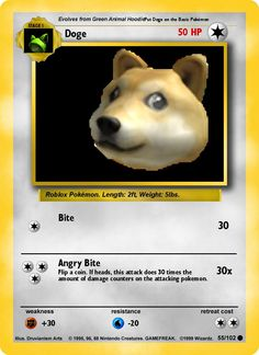 doge pokemon card  MoreDoge Card