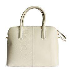 Serafina Italian Beige Leather Dome Handbag - £54.99 Italian Leather Handbags, Italian Women, Beige, Tote Bag, Luxury, Lady, Natural, Carry Bag, Tote Bags