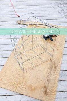 Short on storage and shelving? Why not make your very own wire mesh shelves in a fun and modern way!