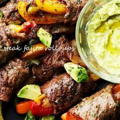 Sirloin Steak Fajita Roll-Ups Recipe with Homemade Fajitas Seasoning Fajita Seasoning Packet, Fajita Spices, Homemade Fajita Seasoning, Homemade Seasonings, Sirloin Steak Recipes, Sirloin Steaks, Steak Fajitas, Whole30, Homemade Fajitas