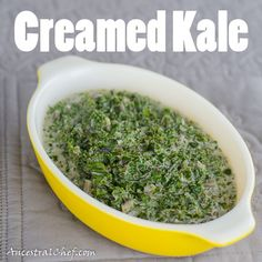 This is like the popular creamed spinach recipes (except it uses kale rather than spinach and coconut cream rather than heavy cream)! It's a great side dis