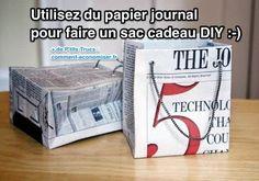 Aujourd'hui, je vous présente comment faire un sac cadeau en papier journal. Ne vous inquiétez pas, c'est super facile à faire ! En plus, c'est plus économique que d'acheter des sacs cadeaux.  Découvrez l'astuce ici : http://www.comment-economiser.fr/comment-faire-un-sac-cadeau-original-en-papier-journal.html?utm_content=buffer7b43f&utm_medium=social&utm_source=pinterest.com&utm_campaign=buffer
