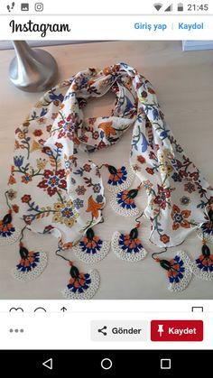 Knitted Shawls, Crochet Shawl, Knit Crochet, Crochet Necklace Pattern, Kurta Designs Women, Couture Embroidery, Knitted Flowers, Finger Knitting, Crochet Instructions