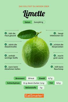Das solltest du über Limetten wissen   eatsmarter.de #limette #infografik #ernährung