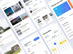 More pages from Travel booking app by Yushun - Dribbble