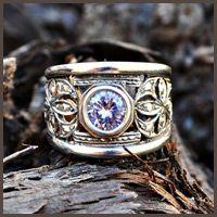 Silver filigree ring - Fia Fourie Juwele