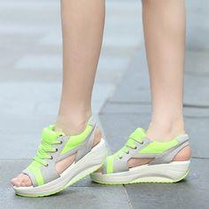 4a209ea9cc6 Anabela Aplicação de renda Sapatos (1102406) Sapatos Da Moda