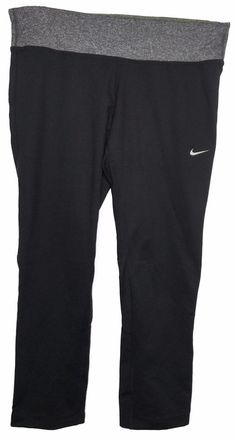 Nike Womens  Dri-Fit Fit Dry Yoga Capris Exercise Pants Leggings  Nike   21c366f3d8