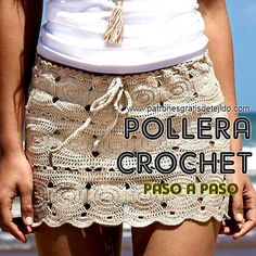 Cómo se teje la pollera hecha con círculos paso a paso See other ideas and pictures from the category menu…. Shorts Tejidos A Crochet, Crochet Skirts, Crochet Quilt, Crochet Clothes, Crochet Stitches, Crochet Patterns, Knitting Patterns, Beach Crochet, Love Crochet
