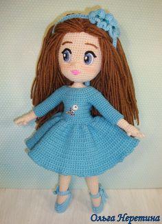 Boneca amigurumi olga neretina.