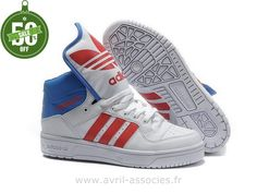 premium selection a3643 67e01 Adidas Jeremy Scott Big Tongue White Red and Blue