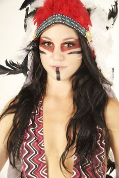 fire lily females (classic, traditional and flattering ~ the black lip makeup ~ almost mimicking a tattoo) Face Painting Tips, Body Painting, Tribal Face Tattoo, Jester Makeup, Warrior Makeup, Tribal Paint, Fire Lily, How To Do Makeup, Theatre Makeup