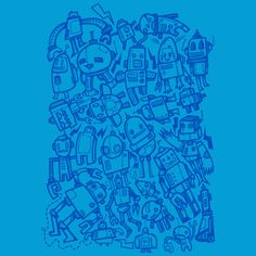 Robot Overload is a T Shirt designed by wotto to illustrate your life and is available at Design By Humans