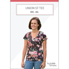 The Union St. Tee pdf pattern by Hey June Handmade