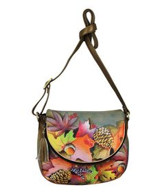 Another great find on #zulily! Fall Fiesta Hand-Painted Leather Crossbody Bag #zulilyfinds