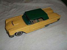 Vintage Bandai FORD THUNDERBIRD 1958 VINTAGE TIN FRICTION TOY CAR JAPAN Item 701  $75.00Approx NOK624.84