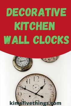 Ideas for a country-style lover rooster clock for kitchen walls. If you love the look of retro style then there are red kitchen wall clock style. Rooster Wall Clock, Red Wall Clock, Rustic Wall Clocks, Kitchen Wall Clocks, Red Kitchen Walls, Kitchen Interior, Kitchen Decor, Wall Stickers Red, Clock Decor