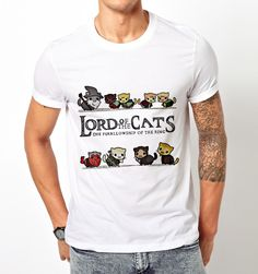 The Furrlowship of the Ring Cats Lord of the Ring Parody T Shirt Tee Unisex