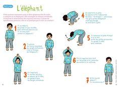L'éléphant : cette posture assouplit la colonne vertébrale. A ne pas pratiquer le soir avant le coucher. @raphaellemalaspina: