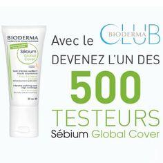 Test Produit Gratuit 500 Soins Sebium Global Cover Bioderma à tester !