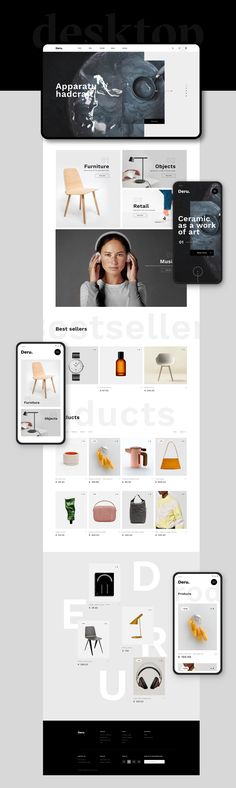 Deru searches for products that outlast the presence of time, labours of love and passion for uniqueness. Fresh Brand, Web Design, Consumerism, Case Study, Platform, Unique, Behance, Passion, Design Web