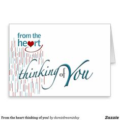 From the heart thinking of you! stationery note card