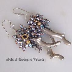 Schaef Designs Jewelry Caviar n Coral earrings