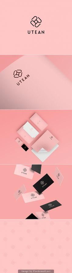 Utean by 60 degrees / brand identity >> not entirely a fan of the mark but like the presentation