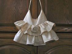 Pieced Pastimes: Muslin Ruffle Bag