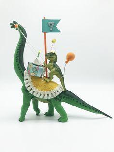 Brachiosaurus Birthday Cake Topper, T. Dinosaur Cake Toppers, Dinosaur Birthday Cakes, Dinosaur Party, Birthday Cake Toppers, Animal Birthday, Dinosaur Gifts, Elmo Party, Elmo Birthday, Mickey Party