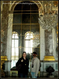 """Walk the length of the majestic Hall of Mirrors in the palace of Versailles, Paris.  Find out more at """"Down the Wrabbit Hole - The Travel Bucket List"""". Click the image for the blog post."""