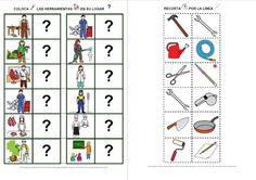 Preschool Jobs, Body Parts Preschool, Preschool Worksheets, English Activities, Toddler Learning Activities, Kids Learning, Spanish Lessons, Teaching Spanish, English Lessons