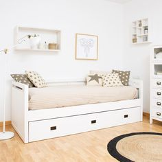Nepal cama nido - Fade Tutorial and Ideas Cute Bedroom Ideas, Room Ideas Bedroom, Baby Room Decor, Bedroom Inspo, Girls Bedroom, Bedroom Decor, Daybed Room, Relaxation Room, Banquette