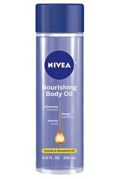 Everything about this macadamia-packed body oil screams lotion — from its fast-absorbing texture to its dreamy smell — only it goes on in a flash and leaves you hydrated for way longer. Nivea Nourishing Body Oil, $11.99, available at drugstores in January 2017. #refinery29 http://www.refinery29.com/2016/12/133648/drugstore-beauty-product-innovations-2017#slide-26