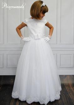 Anabel - Graziöses Kommunionkleid - Princessmoda - Alles für Taufe Kommunion und festliche Anlässe