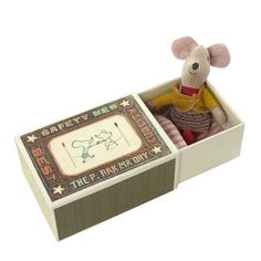 Baby Mouse Toy in a Matchbox