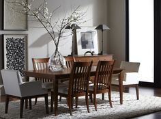 The Rowan dining table with Ingrida armchairs is oh-so shaker chic.