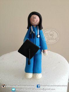 Nurse cake topper. Made in fondant